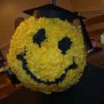 graduation smile face pinata