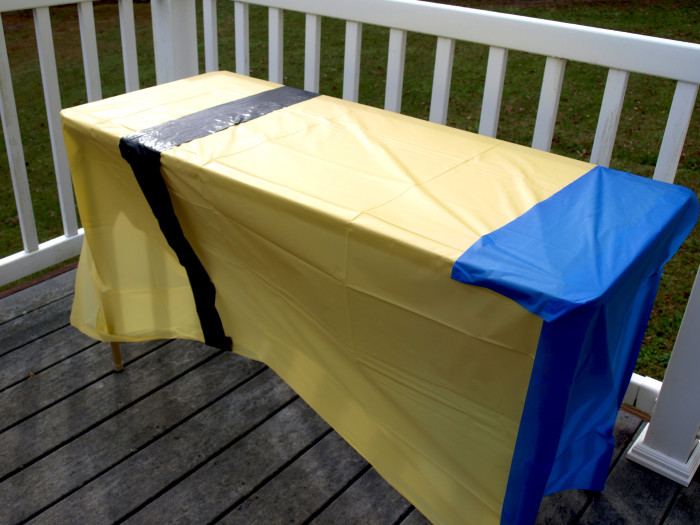 Minion Tablecloth eye strap