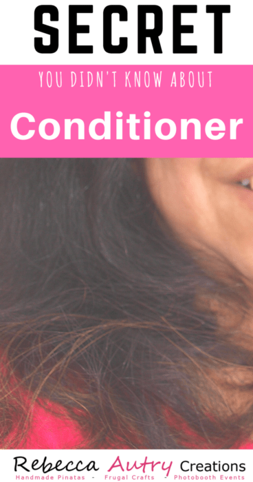 Secret about Conditioner Frugal uses of conditioner