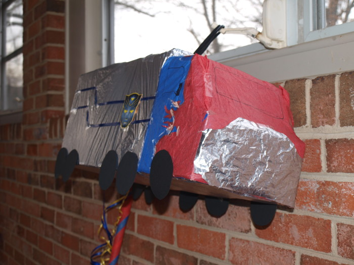 How To Make Optimus Prime Pinata Rebecca Autry Creations