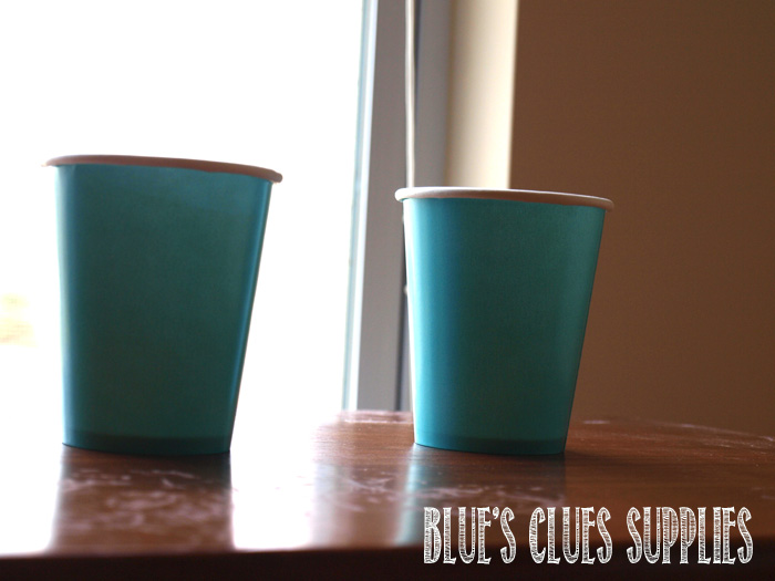blues clues cup supplies