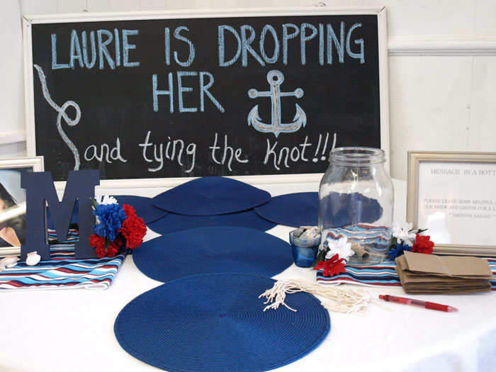 nautical welcome table