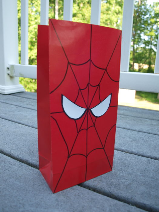 spiderman favor bag