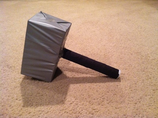 thor hammer diy avengers party idea rebecca autry creations