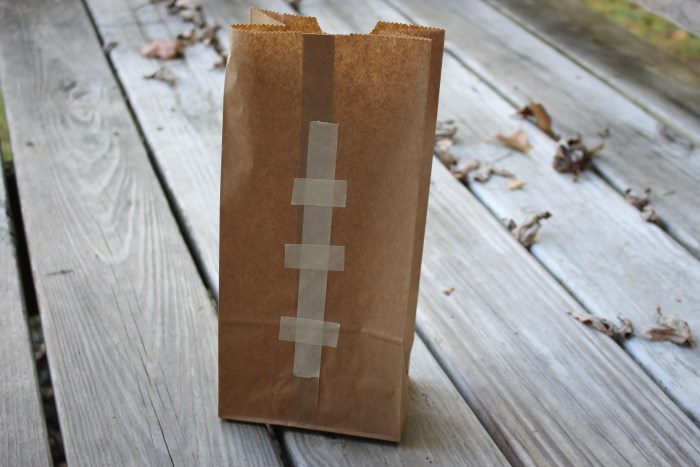 Football Favor bag long
