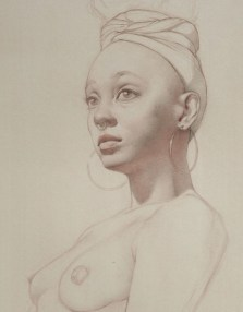 Rebecca C Gray, Portrait of Shay, detail, 2014.