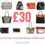 hottest autumn bags under thirty pound