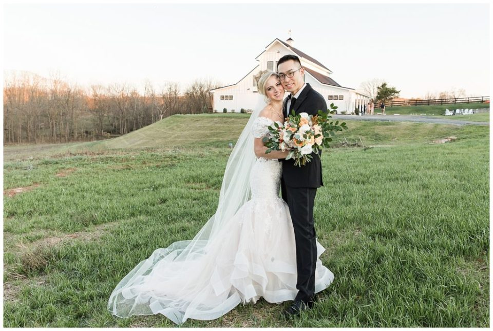 Happy couple. Mr. and Mrs. The Barn at Willow Brook.
