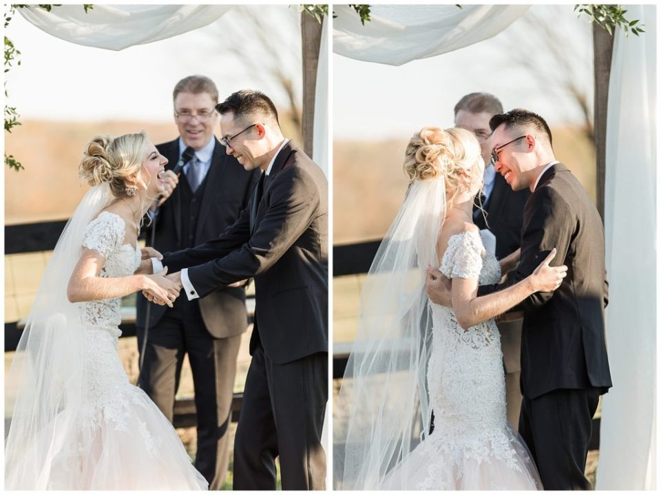 Happy. Mr. and Mrs. Bride and groom.