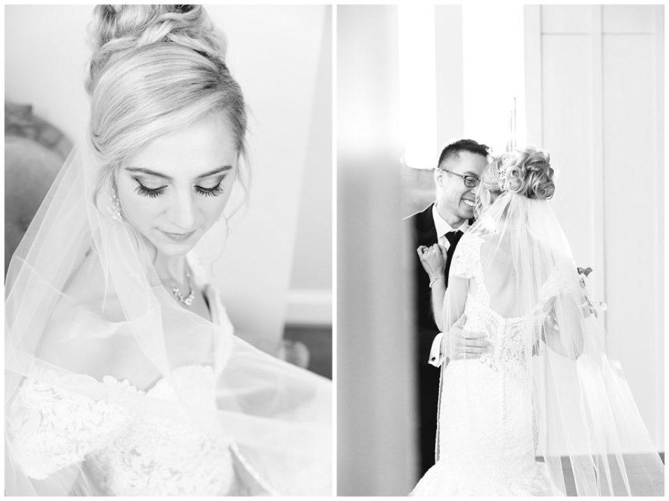 Rebecca Dotson Photography. Black and white wedding portraits.