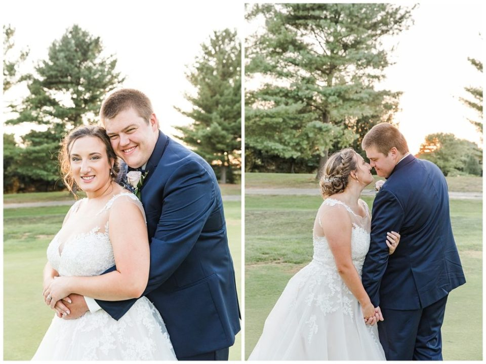 Sunset Wedding Portraits. Mr. and Mrs. Bowling Green Country Club.