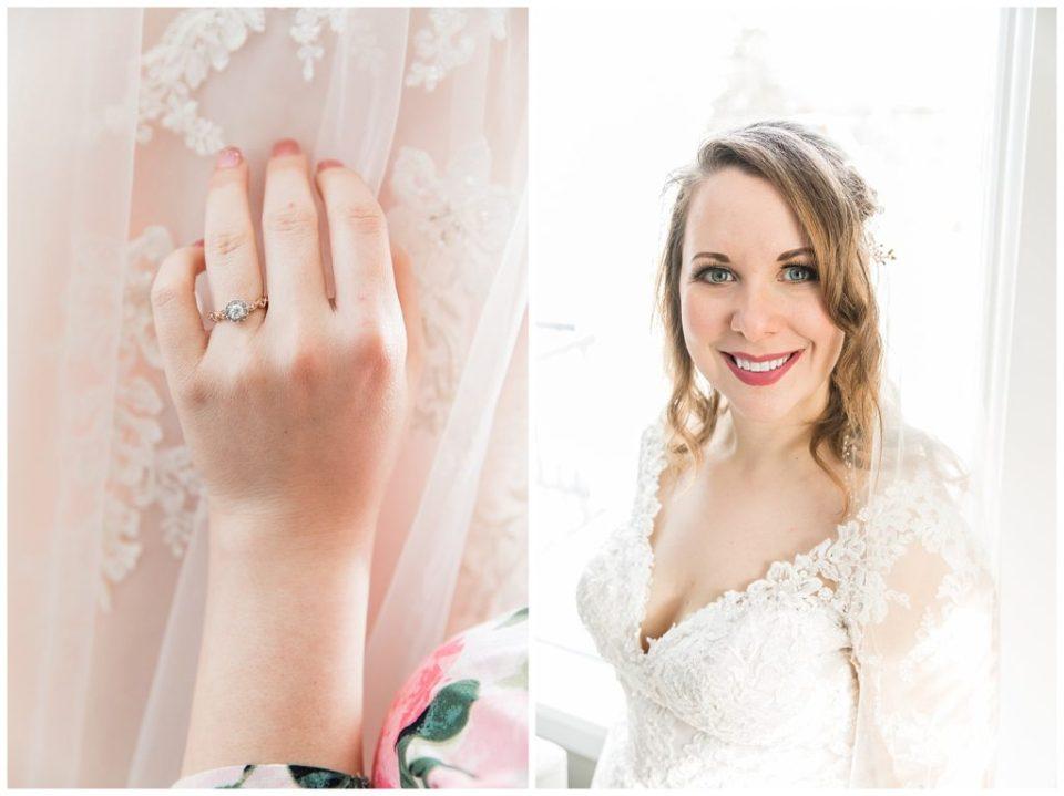 Bride. Engagement ring.