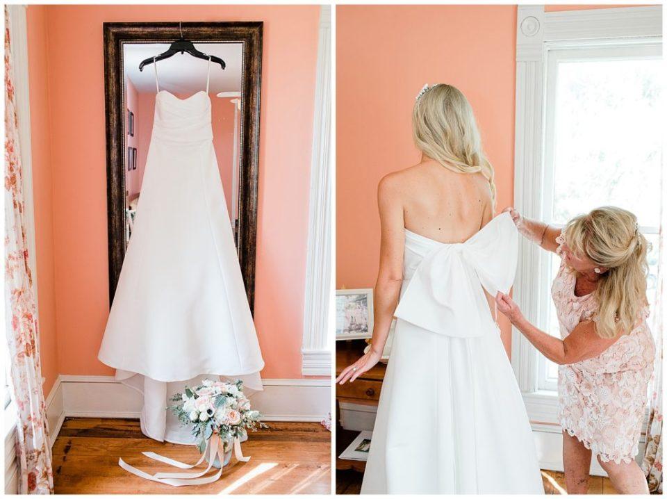 Bride. Getting ready.