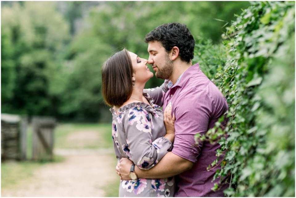 Engagement. Purple Shirt