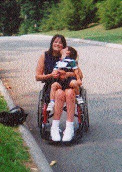 Becky Pete wheelchair kiss