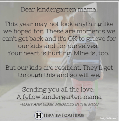 first-time kindergarten mama