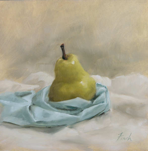 """At Peace"" 6x6 oil • $295"