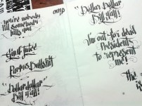 Calligraphy Practice by Rebecca Fuchs