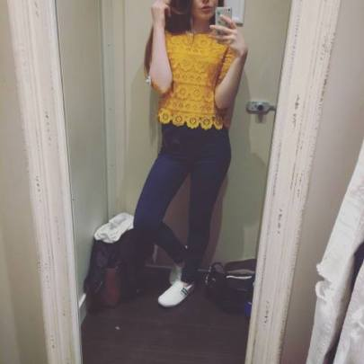 Petite Yellow Floral Lace Half Sleeve Top - £15.99 - http://www.newlook.com/shop/womens/petite/petite-yellow-floral-lace-half-sleeve-top_514343287?productFind=search