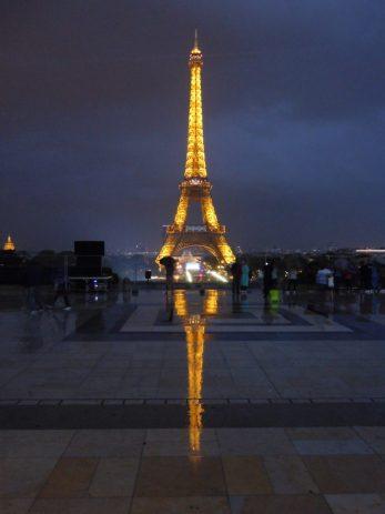 Honeymoon photos: Le Tour Eiffel after a rainstorm