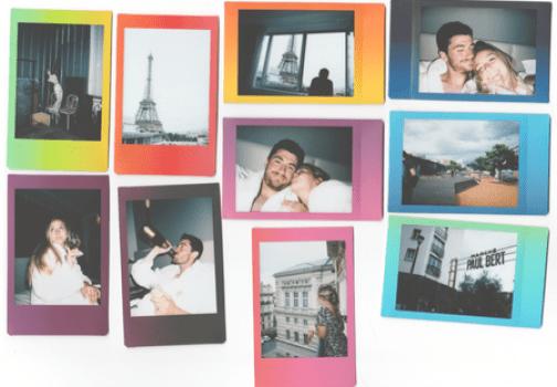 Honeymoon photos on instant film