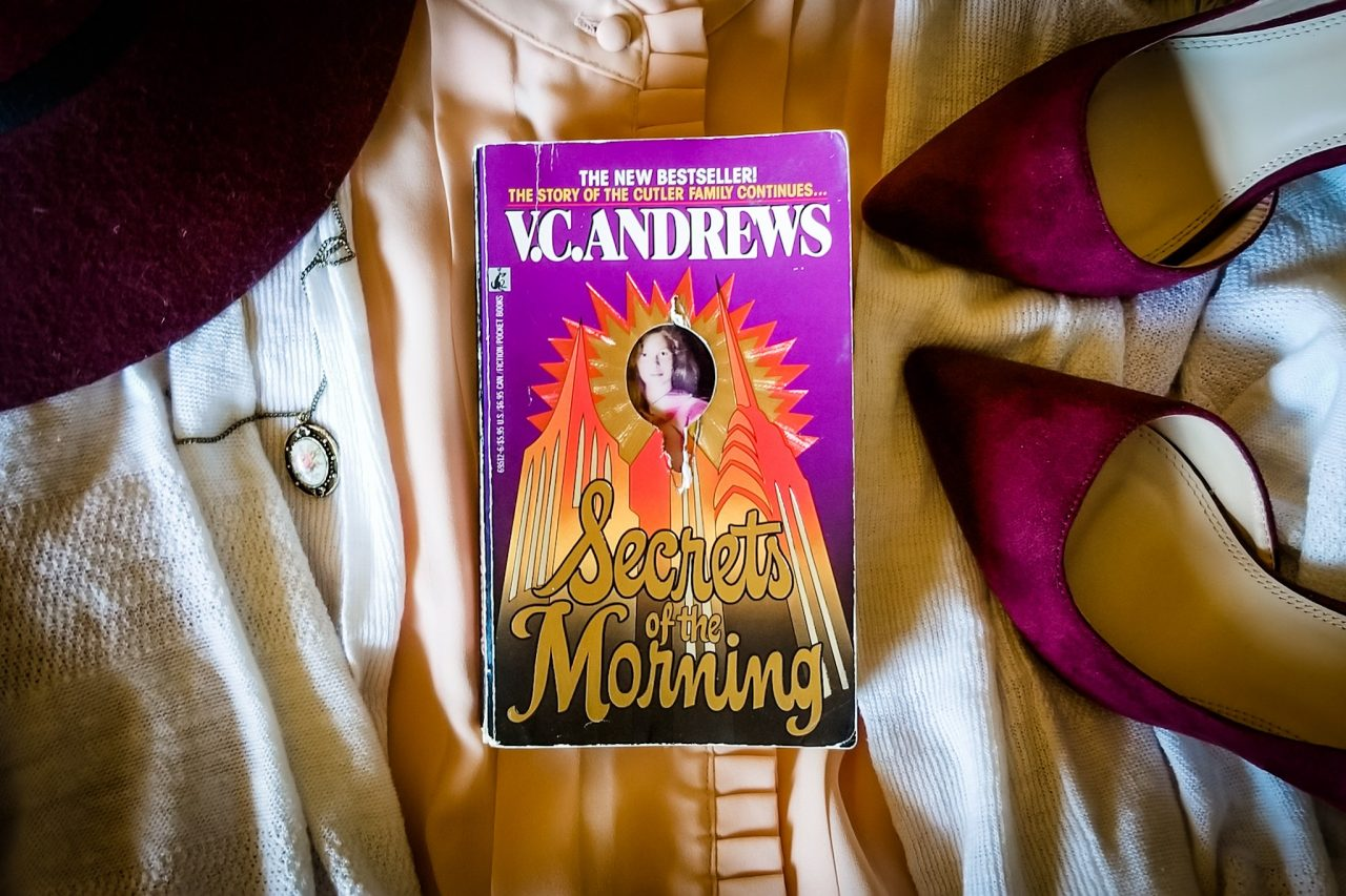 Flatlay book image of SECRETS OF THE MORNING by V.C. Andrews