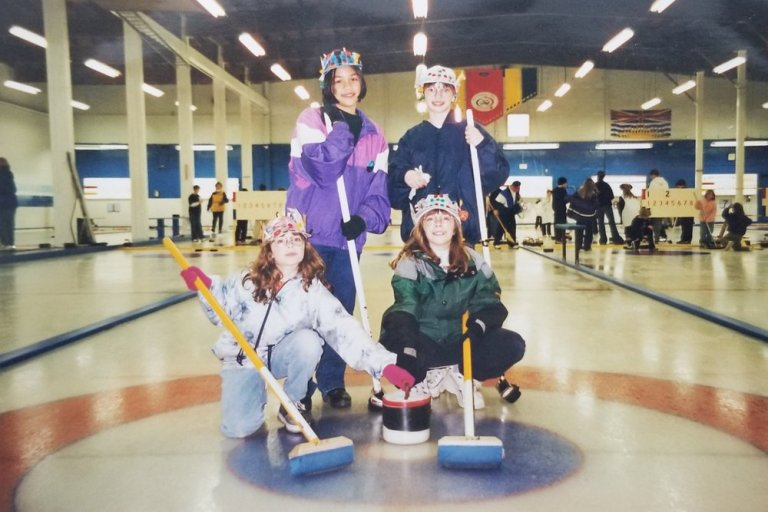 Image of me when I was 11 and participated in Jam Can Curling