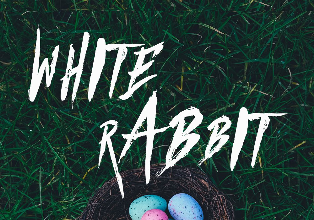 Cover image for my short story, WHITE RABBIT.