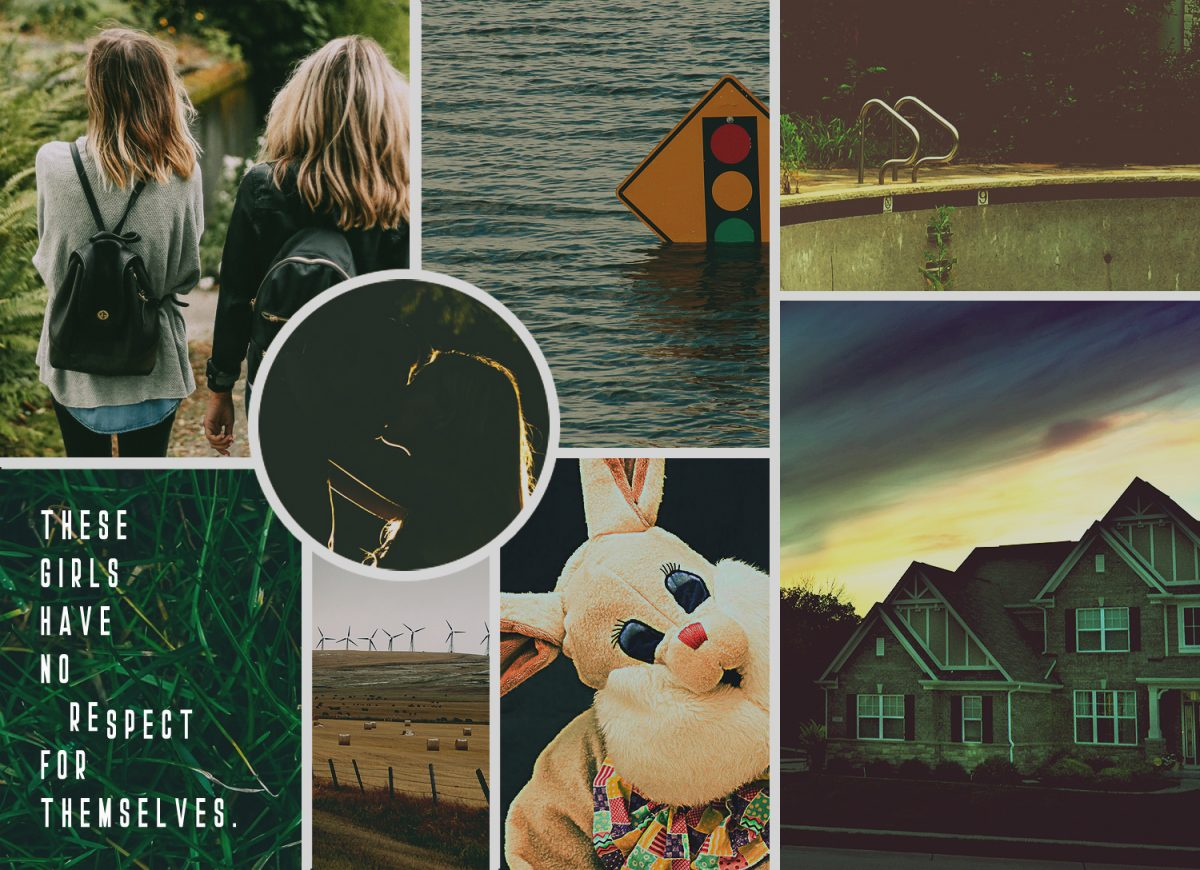 """Moodboard image for the short story, """"White Rabbit"""" by Rebecca Jones-Howe."""