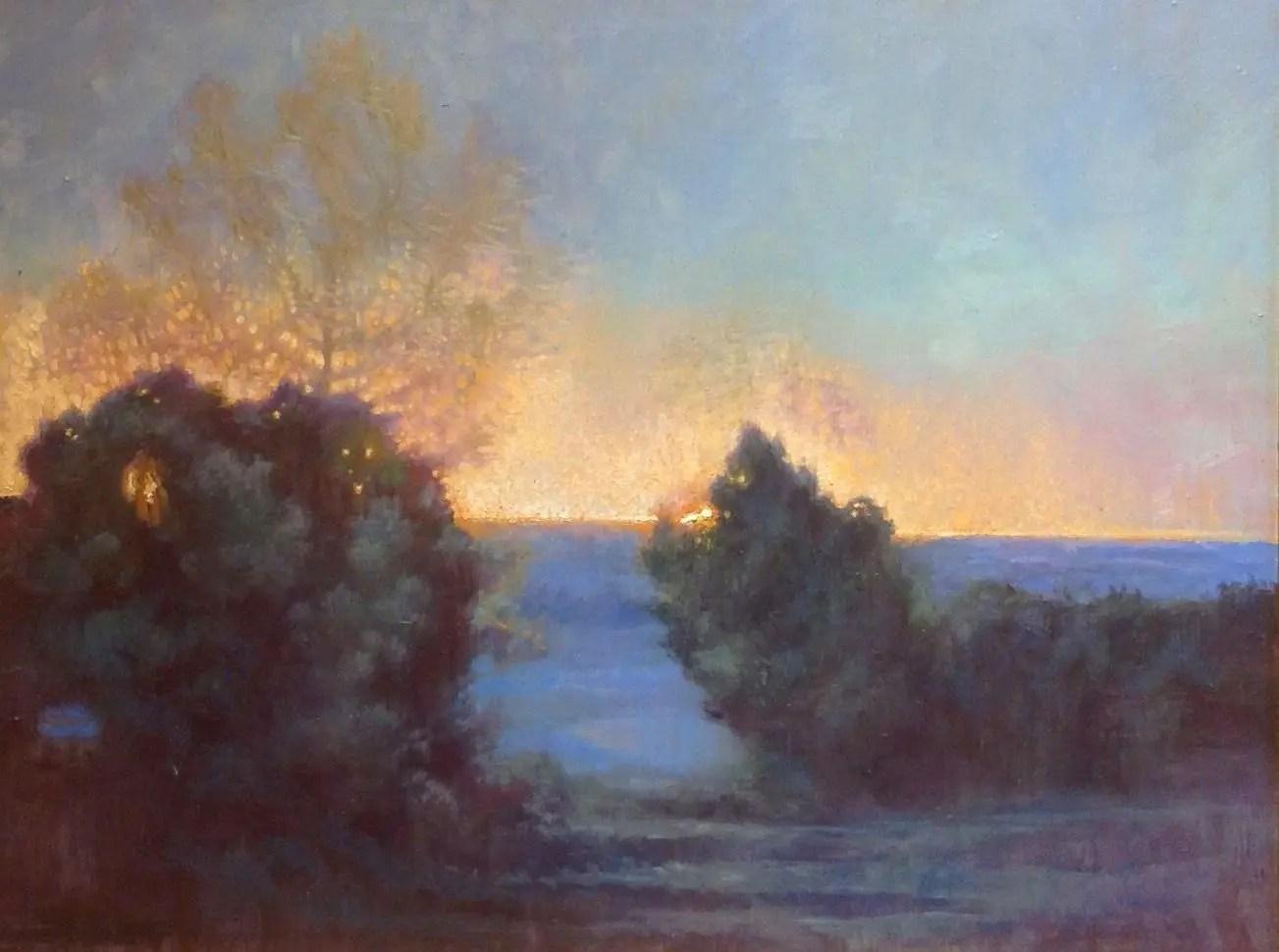 plein air painting on speed  morning break