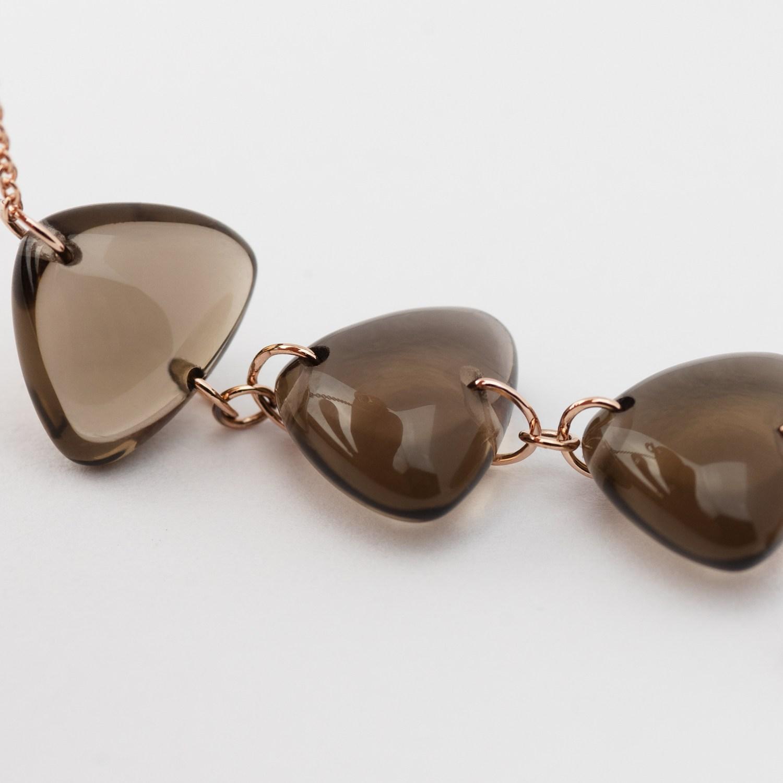 Rebecca Li Crystal Link Bracelet Smoky Quartz