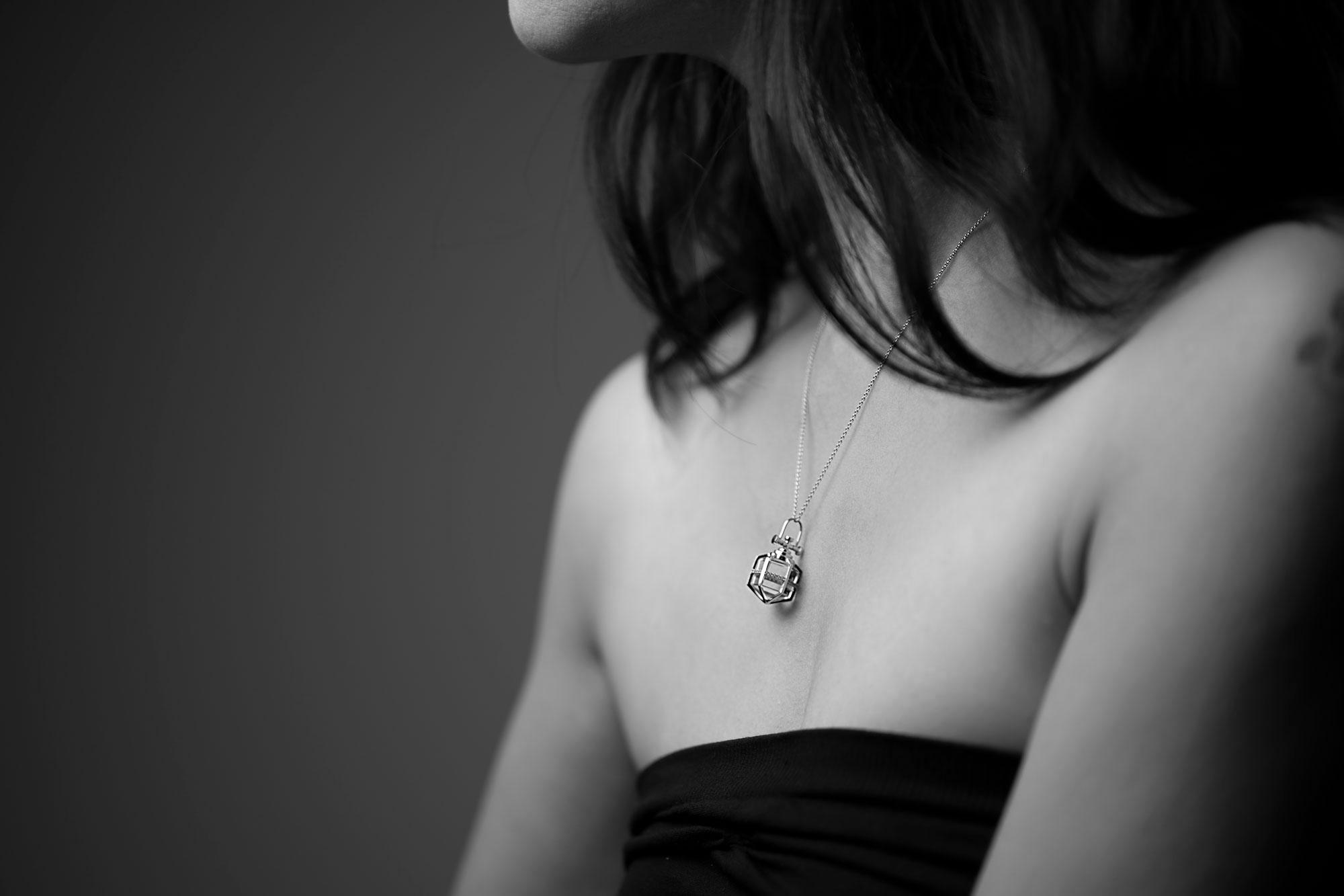 Rebecca Li Six Senses Talisman Pendant with Diamond and Rock Crystal