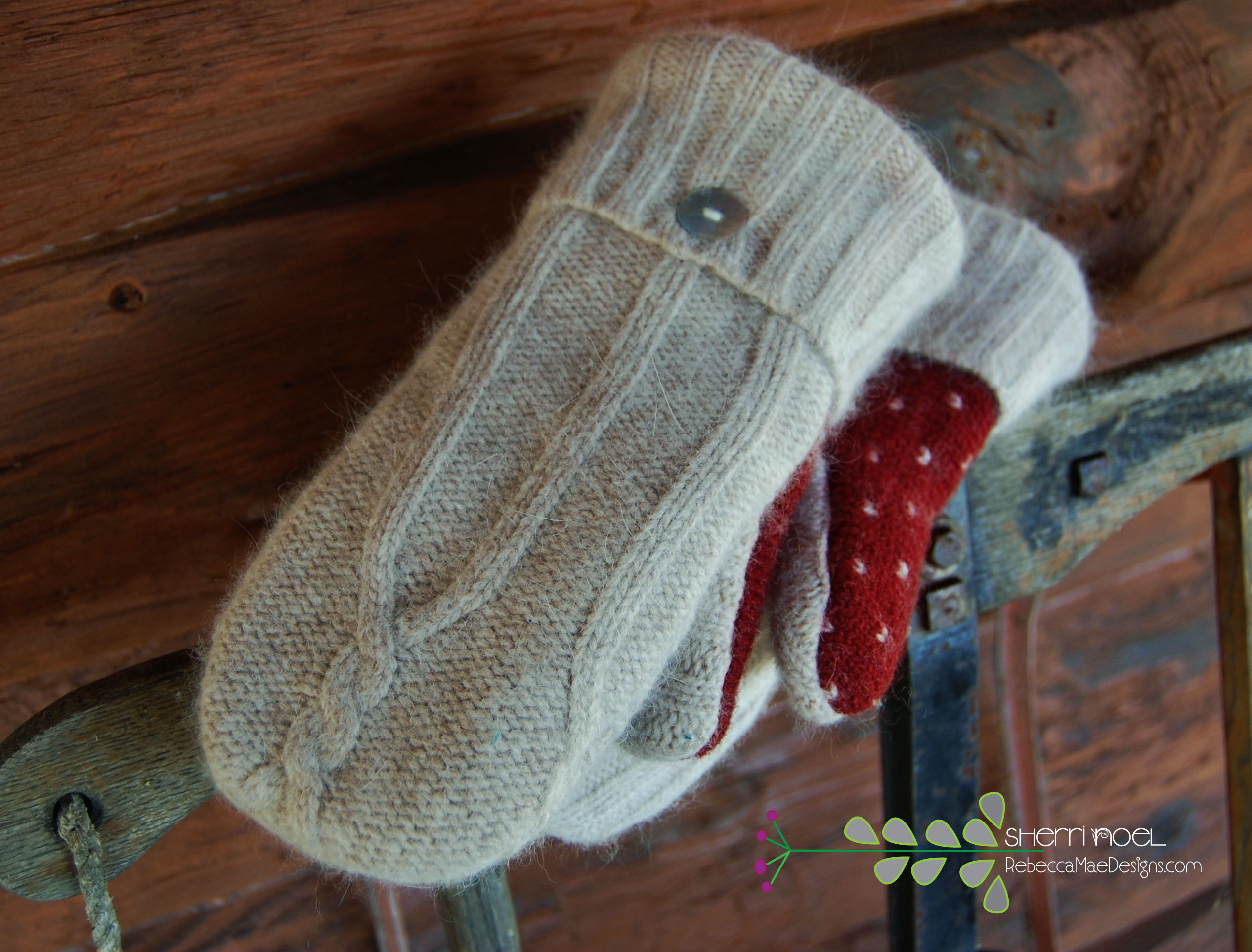 Making Mittens From Wool Sweaters