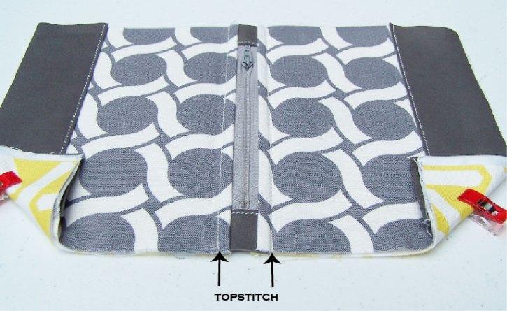 lined zipper case tutorial