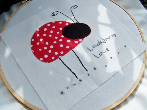 lady bug applique tutorial
