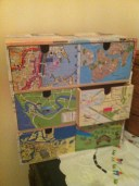 Map storage drawers