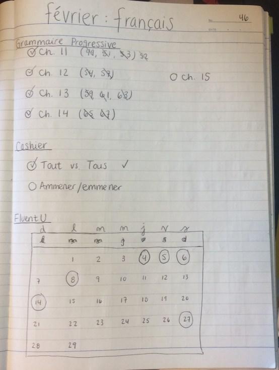 French Study Plan