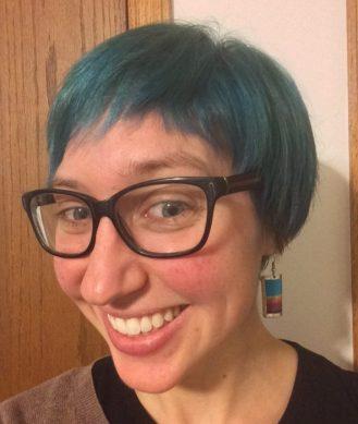 rebecca blue hair