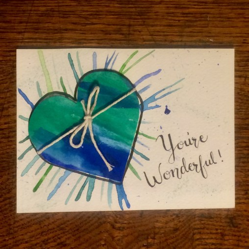 folded heart card