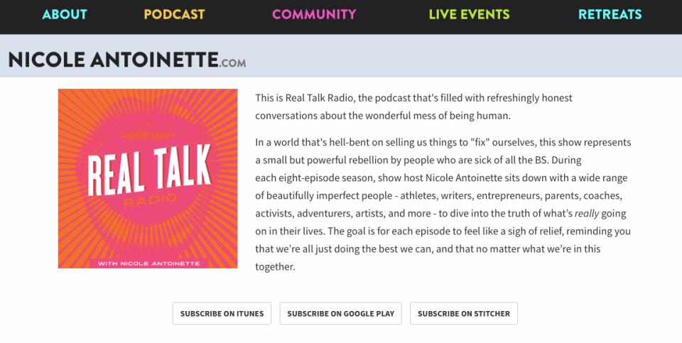 Real Talk Radio Nicole Antoinette