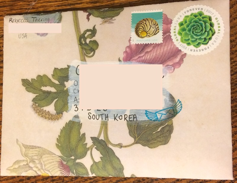 diy envelope snail mail
