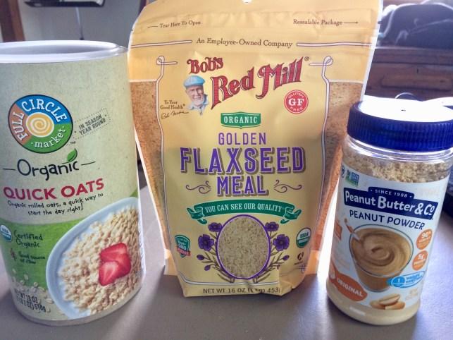 Oatmeal, flax, peanut butter