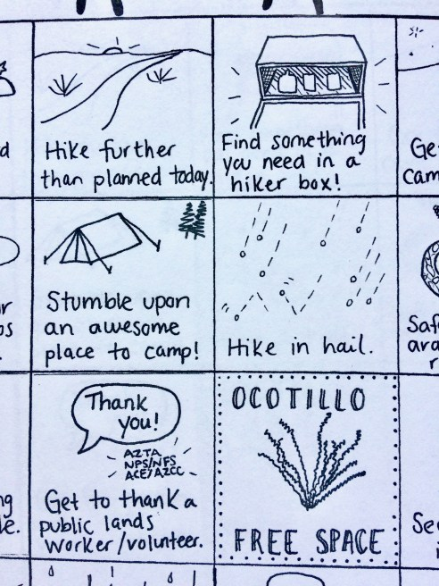 Arizona Trail Bingo