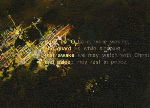 Verse from Compline series, Acrylic on paper