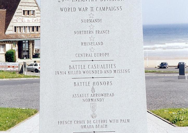 2000 05 11 Omaha Beach 29th Division monument