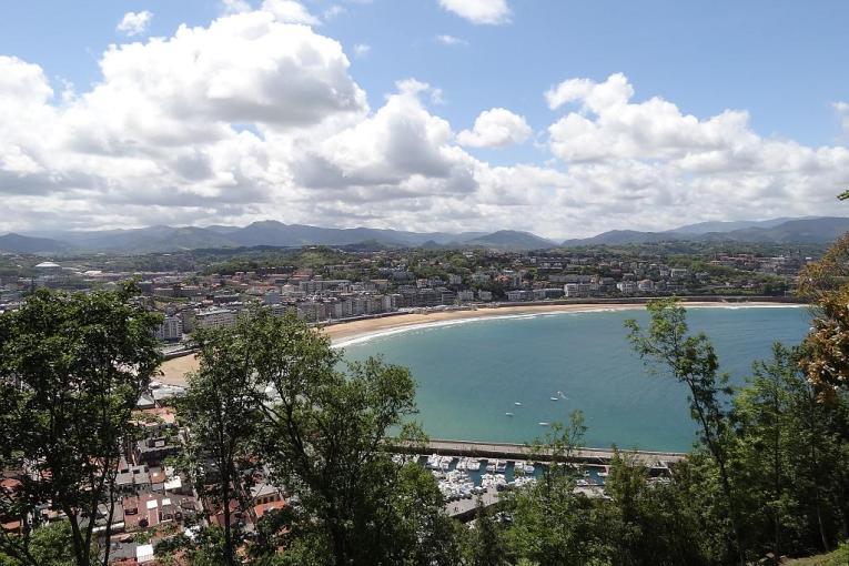 Bahia de La Concha from Mount Urgull