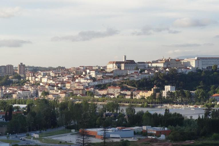 Coimbra view from the Best Western Hotel D Luis hotel