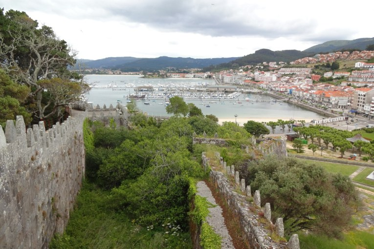 Baiona from the ramparts of the Parador