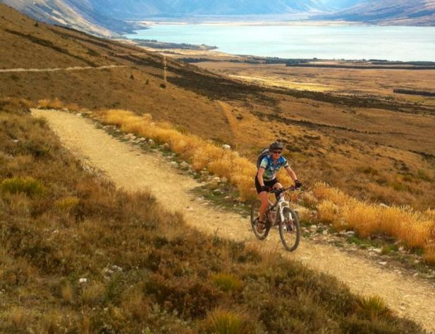 Biking Alps to Ocean Trail - by Lake Ohau