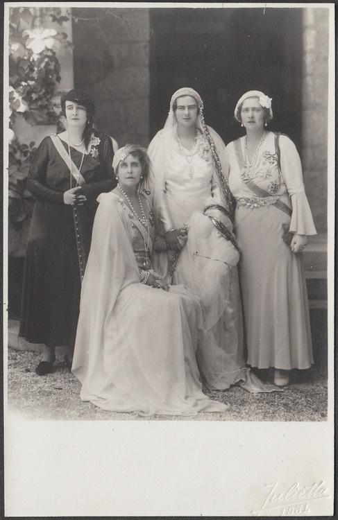 HRH_Elizabeth_of_Romania,_HM_Queen_Marie_of_Romania,_HRH_Princess_Ileana_of_Romania,_HM_Queen_Maria_of_Yugoslavia